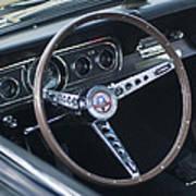 1966 Ford Mustang Cobra Steering Wheel  Art Print