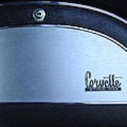 1967 Chevrolet Corvette Glove Box Emblem Art Print by Jill Reger