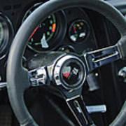 1967 Chevrolet Corvette Steering Wheel Art Print