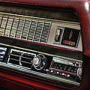 1967 Oldsmobile Cutlass 4-4-2 Dashboard Art Print