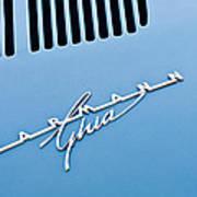 1967 Volkswagen Vw Karmann Ghia Emblem 4 Art Print