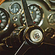 1968 Aston Martin Db6 Steering Wheel Emblem Art Print