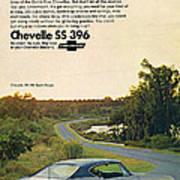 1968 Chevrolet Chevelle Ss 396 - It'd Be A Big Mover On Looks Alone. Art Print