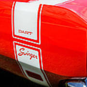 1969 Dodge Dart Swinger 340 Print by Thomas Schoeller