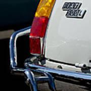 1969 Fiat 500 Taillight Emblem Art Print