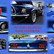 1969 Ford Mustang Mach 1 Fastback Art Print