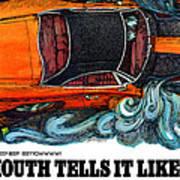 1969 Plymouth Road Runner Art Print