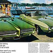 1969 Pontiac Gto And Firebird Art Print