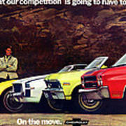 1970 Chevrolet Lineup - This Is What Our Competition Is Going To Have To Live With. Art Print