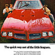 1970 Pontiac Gto - The Quick Way Out Of The Little Leagues. Art Print