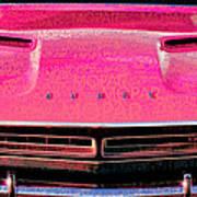 1971 Dodge Challenger - Pink Mopar Typography Art Print
