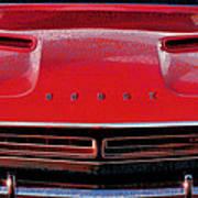 1971 Dodge Challenger - Red Mopar Typography Art Print