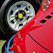 1973 Ferrari 246 Gts Dino Emblem 5 Art Print