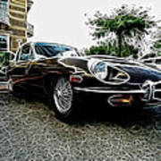 1973 Jaguar Type E Fantasy  Art Print