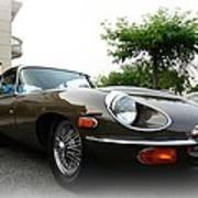 1973 Jaguar Type E Art Print