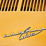 1973 Volkswagen Karmann Ghia Convertible Emblem Art Print