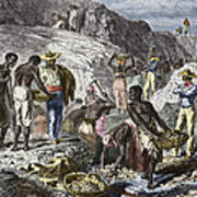 19th-century Diamond Mining, Brazil Art Print