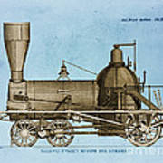 19th Century Locomotive Art Print