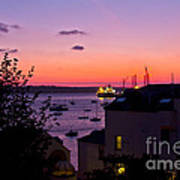 Sunrise Falmouth Docks Art Print