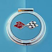 1967 Chevrolet Corvette Emblem Art Print