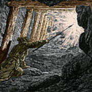 19th-century Coal Mining Art Print