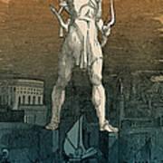 7 Wonders Of The World, Colossus Art Print