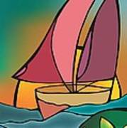 A Boat Art Print