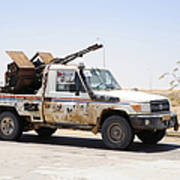 A Free Libyan Army Pickup Truck Art Print