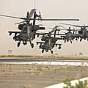 A Group Of Ah-64d Apache Helicopters Art Print
