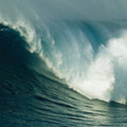 A Powerful Wave, Or Jaws, Off The North Art Print