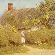 A Surrey Cottage Art Print