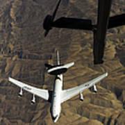 A U.s. Air Force E-3 Sentry Aircraft Art Print
