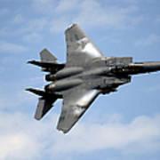 An F-15e Strike Eagle Soars Art Print