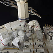 Astronauts Working On The International Art Print