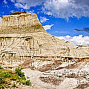 Badlands In Alberta Art Print