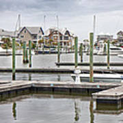 Bald Head Island Marina  Art Print