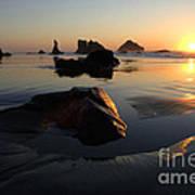 Bandon Beach Sunset Art Print