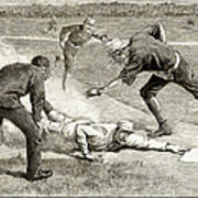 Baseball Game, 1885 Art Print