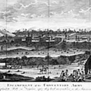 Battle Of Saratoga, 1777 Art Print