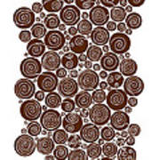 Brown Abstract Print by Frank Tschakert