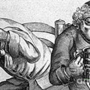 Caricature Of Two Alcoholics, 1773 Art Print