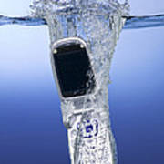 Cell Phone Dropped In Water Art Print