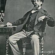 Charles Dickens, English Author Art Print by Photo Researchers