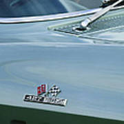 Chevrolet Corvette Emblem Art Print