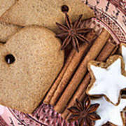 Christmas Gingerbread Art Print