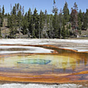 Chromatic Pool Hot Spring, Upper Geyser Art Print