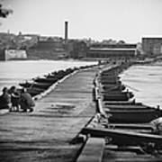 Civil War: Pontoon Bridge Art Print