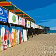 Cocoa Beach Pier Florida Art Print