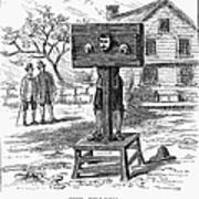 Colonial Pillory - To License For Professional Use Visit Granger.com Art Print
