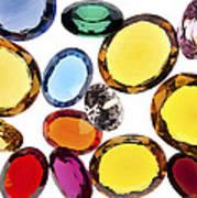 Colorful Gems Art Print by Setsiri Silapasuwanchai